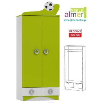 Шкаф FOOTBALL N9 800 Зеленый лайм Almer