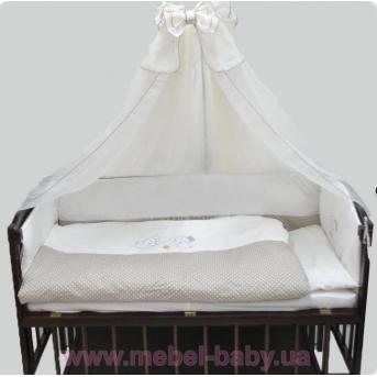 ДБ061/3 Комплект постельного белья комбинированный с вышивкой (простынь на резинке)