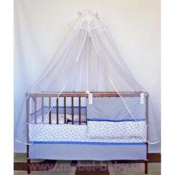 ДБ061/3 Комплект постельного белья комбинированный с вышивкой (простынь на резинке) якоря