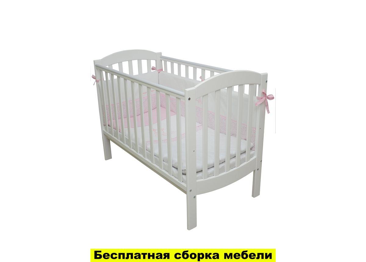 Кроватка Соня ЛД10 Верес 60х120 Белый