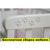Кроватка на полозьях для качания Соня ЛД12 Верес Белый 60х120