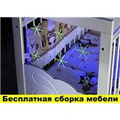 Кроватка с маятниковым механизмом поперечного качания Смешарики Пиноккио Белый 60х120