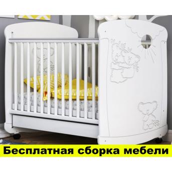 Кроватка на полозьях для качания Коала Пиноккио Белый 60х120