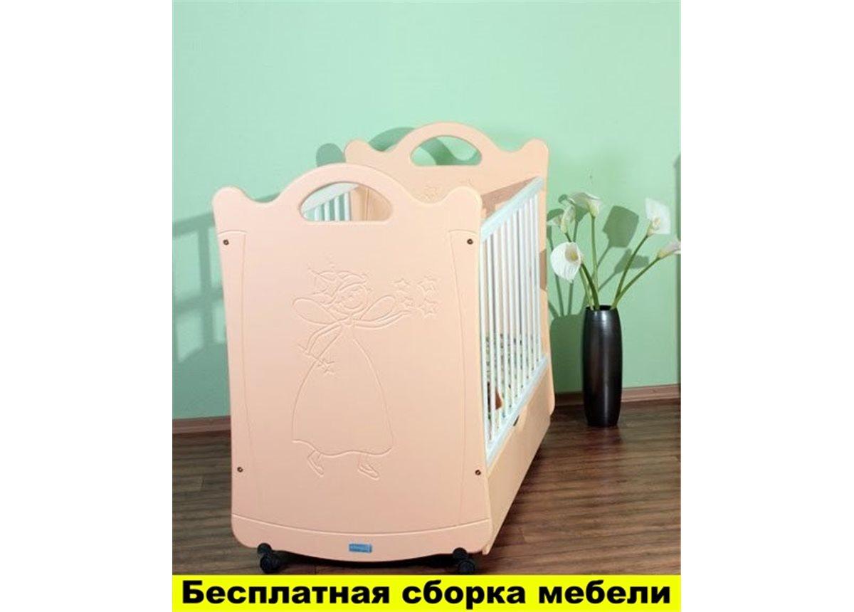 Кроватка на полозьях для качания Принцесса Пиноккио Белый 60х120