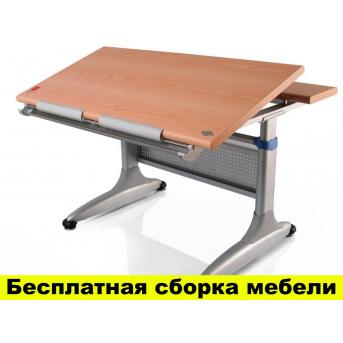 Стол Mealux Miki Beech (арт.TH-349 BG) - столешница бук / ножки серые