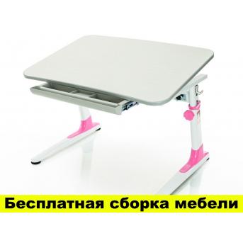 Стол Mealux Dakar Pink (арт.BD-90 PN) - столешница береза / цвет пластика розовый
