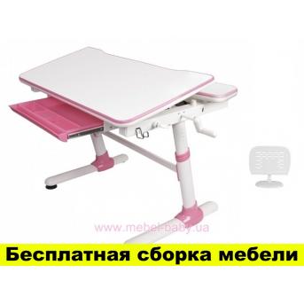 Стол Evo-kids Duke Pink с полкой (арт.Evo-501 Р+полка Evo-513)