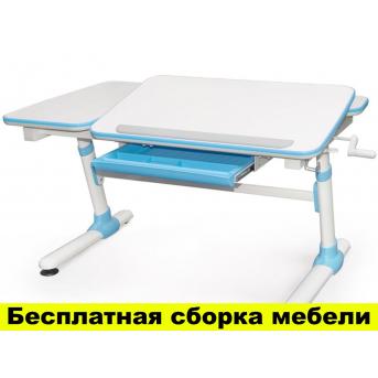 Стол Evo-kids Darwin Blue (арт.Evo-502 B) - столешница белая / вставки голубые