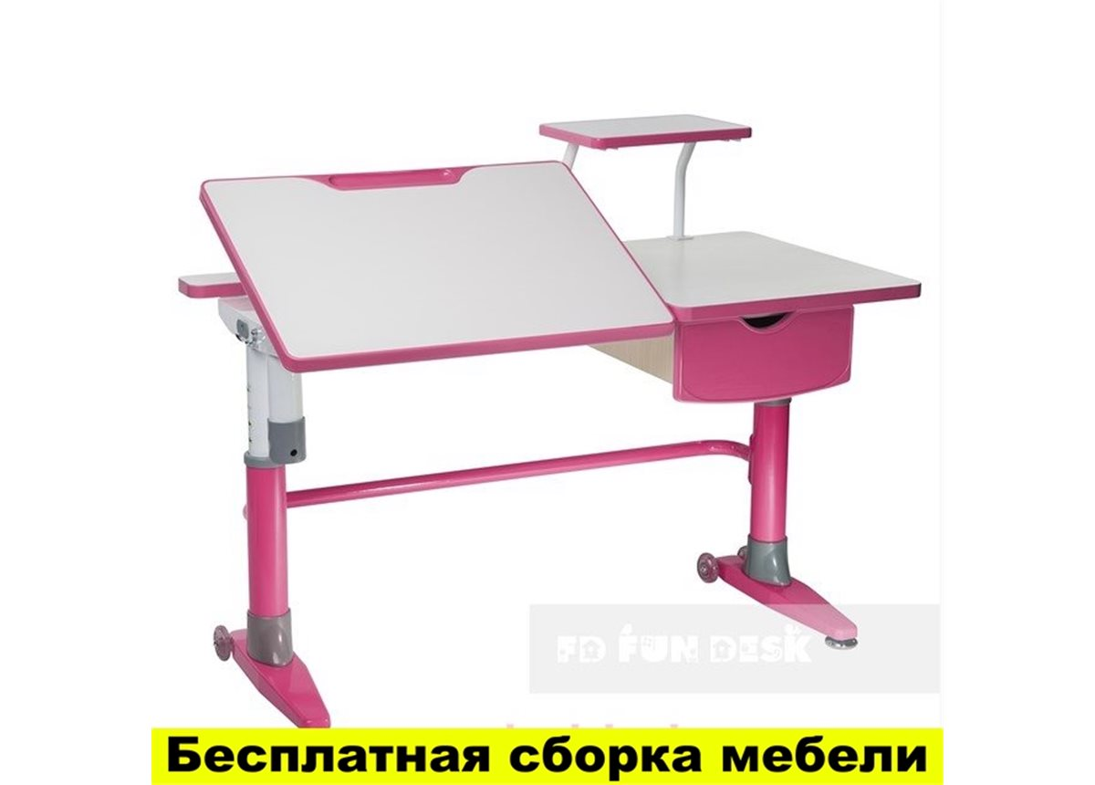Стол-трансформер FunDesk Ballare  with drawer Pink