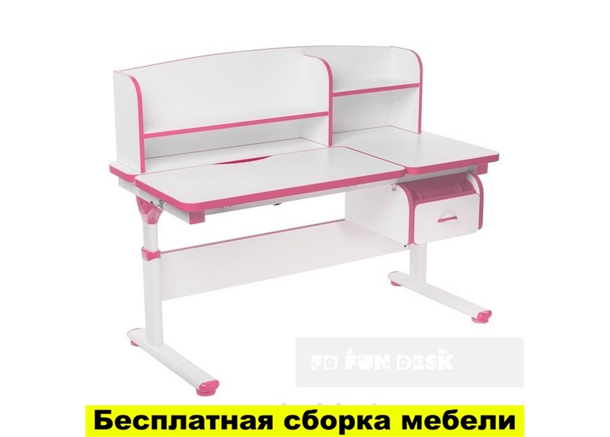 Стол-трансформер FunDesk Creare with cabinet and drawer Pink