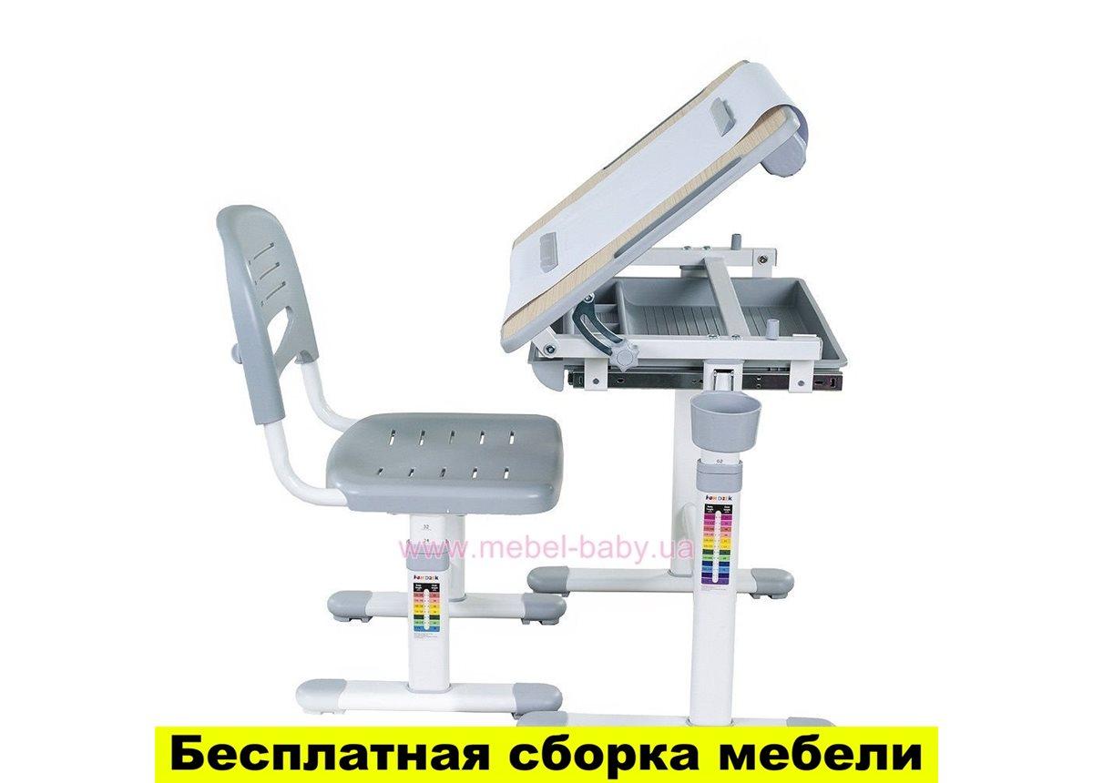 Комплект FunDesk Парта и стул-трансформеры BAMBINO GREY