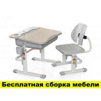 Комплект Evo-kids (стул+стол) Evo-03 G - столешница клен / цвет пластика серый