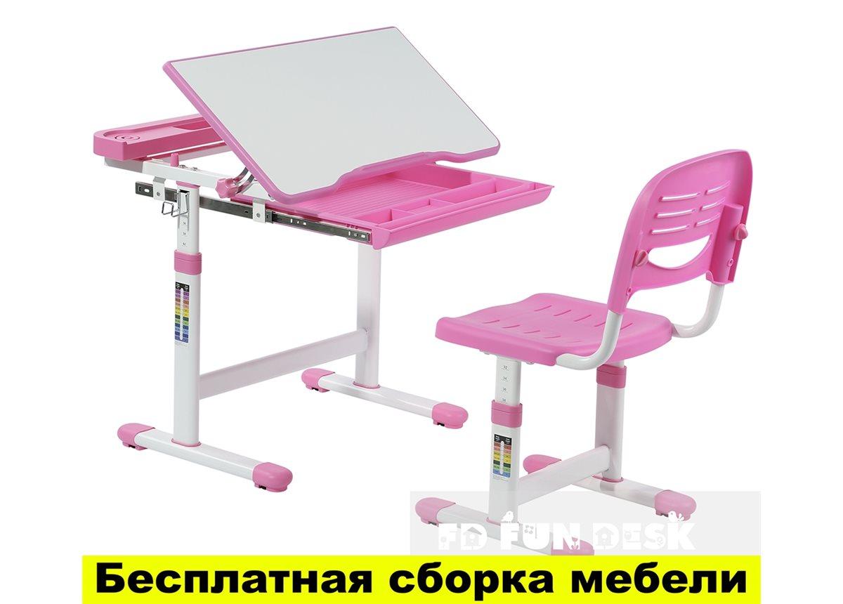 Комплект FunDesk Парта и стул-трансформеры CANTARE PINK