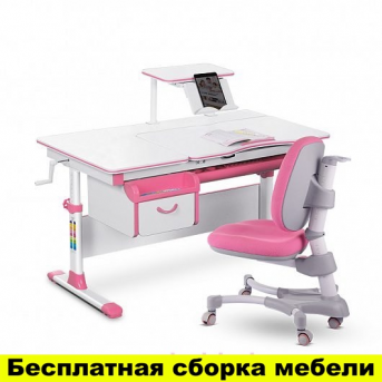 Комплект Evo-kids (стол+ящик+полка+кресло) Evo-40 PN