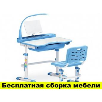 Комплект Evo-kids (стул+стол+полка+лампа) Evo-17 BL с лампой