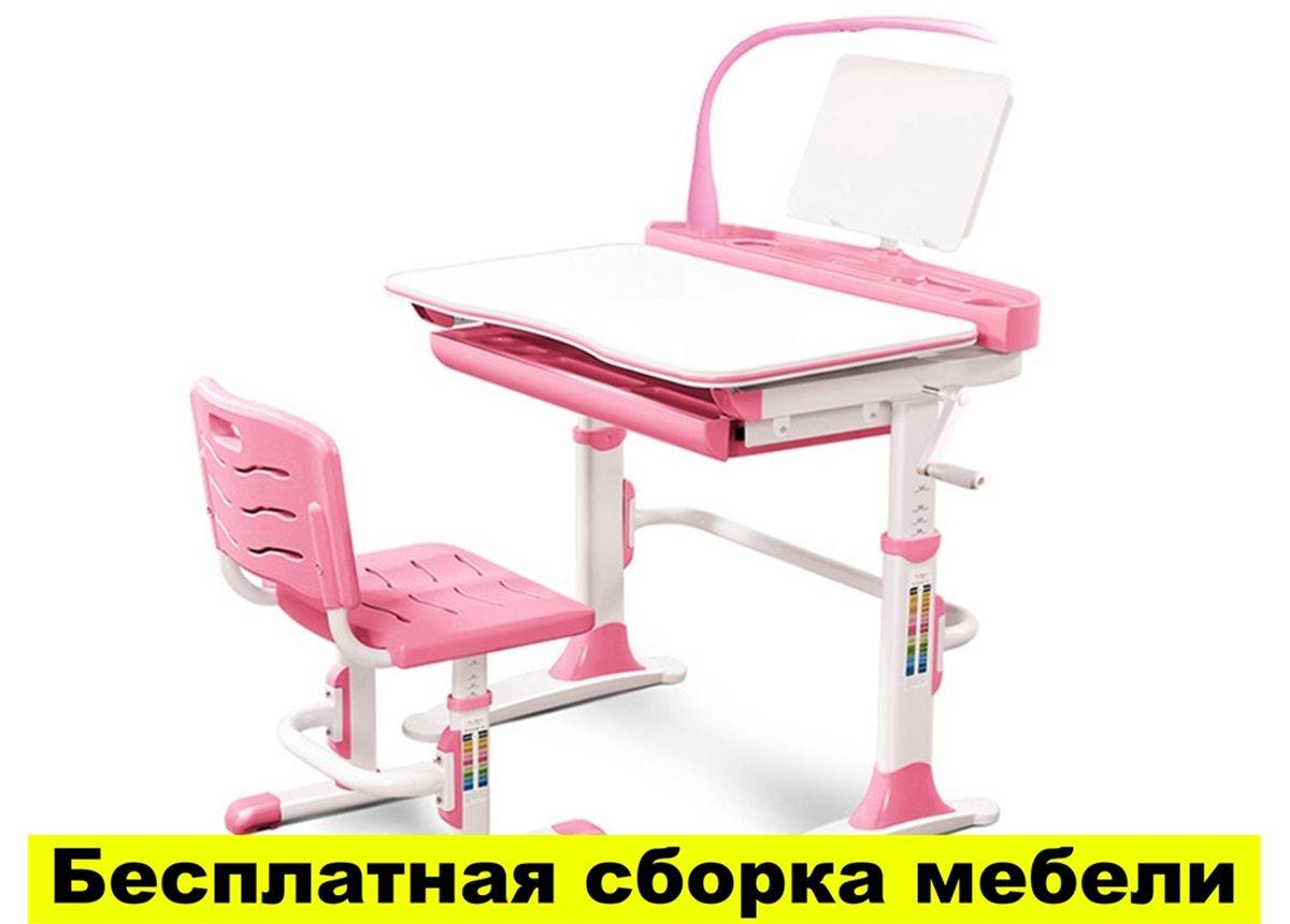 Комплект Evo-kids (стул+стол+полка+лампа) Evo-19 PN с лампой