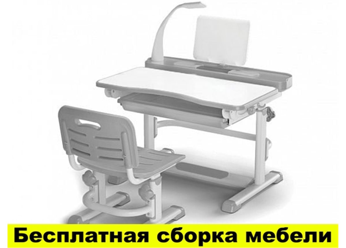Комплект Evo-kids (стул+стол+полка+лампа) BD-04 G New с лампой