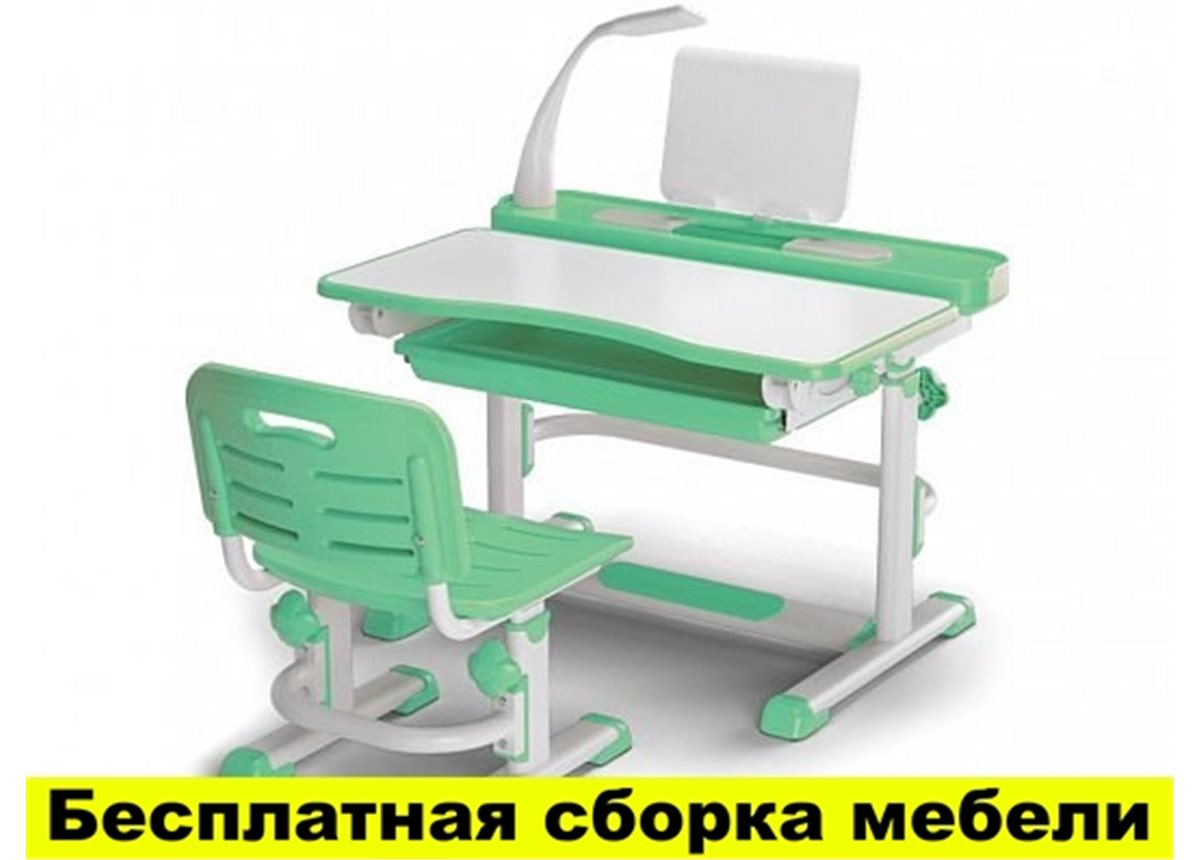 Комплект Evo-kids (стул+стол+полка+лампа) BD-04 Z New c лампой