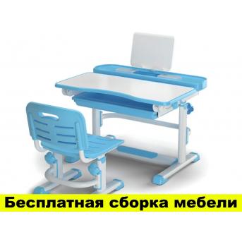 Комплект Evo-kids (стул+стол+полка) BD-04 B New  Blue - столешница белая