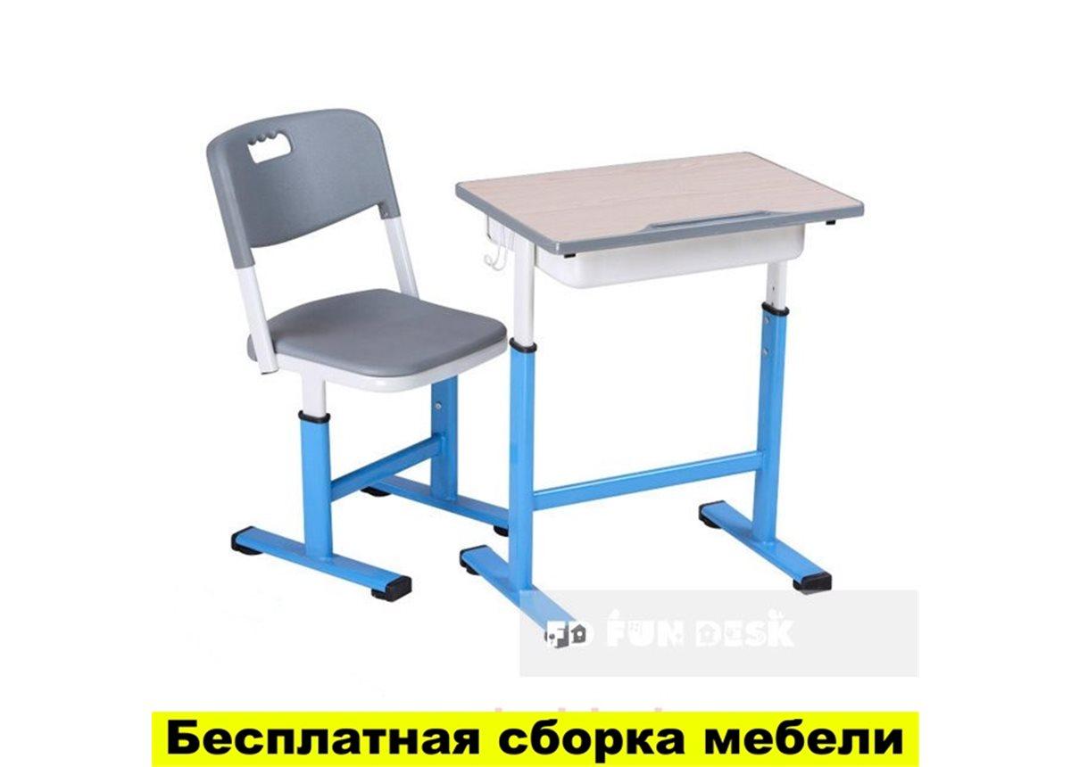 Комплект детской мебели для школы парта и стул  FunDesk Scuola Blue