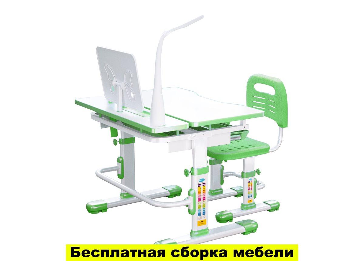 Комплект Парта и стул-трансформеры FunDesk Lavoro green