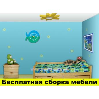 """Одноярусная кровать """"Ирель"""" 80x190 Сосна"""