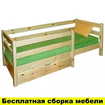 Одноярусная кровать Комфорт-2 80x190 Сосна