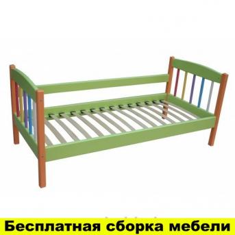 Односпальная кровать Радуга 80x190 Сосна