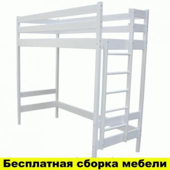 Кровать-чердак высокая Альпы Белая Ирель 122