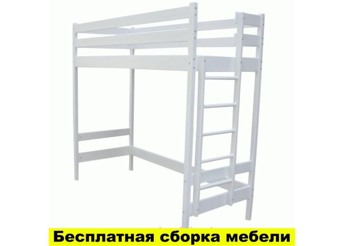Кровать-чердак Альпы Белая Ирель 150