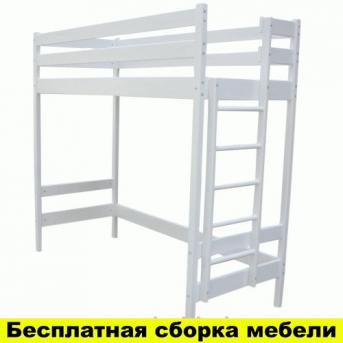 Кровать-чердак высокая Альпы Белая Ирель 187