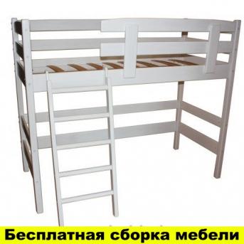 Кровать-чердак Снови Белая Ирель 185