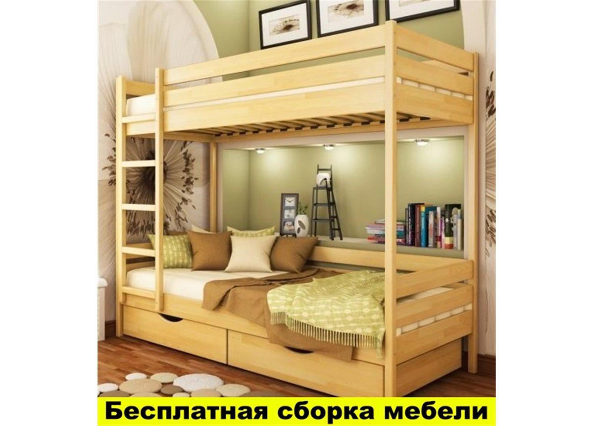 Распродажа Двухъярусная кровать Дуэт 90х190 Эстелла щит бука
