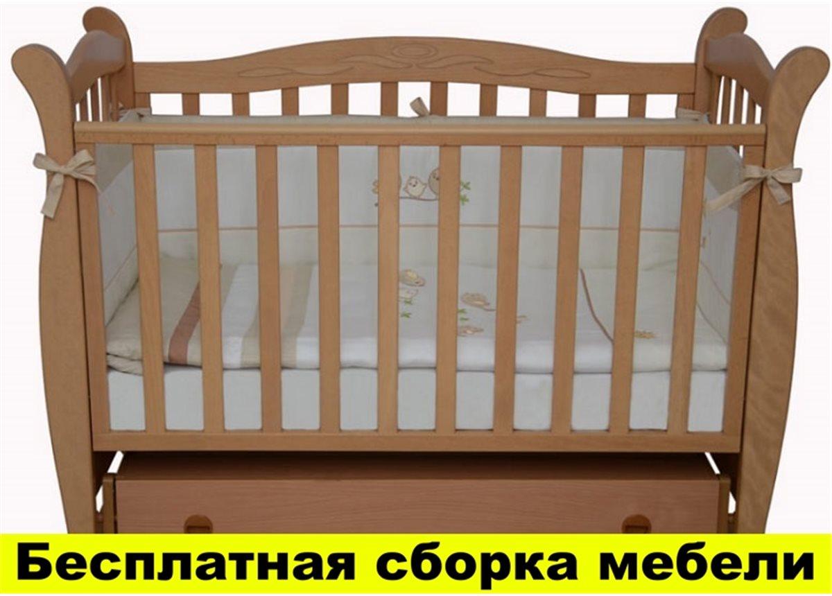 Кроватка Соня ЛД15 Верес 60х120 Бук