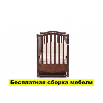 Кроватка с маятниковым механизмом Соня ЛД19 Верес 60х120 Орех