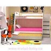 Кровать чердак трехместная WoodMart КЧТ 104 Бежевый