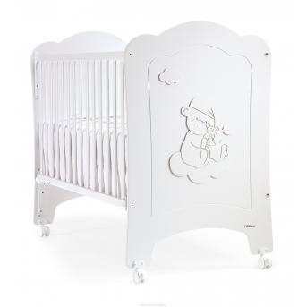 Не качающаяся кроватка для новорожденных Nube 60x120 Trama Matt White
