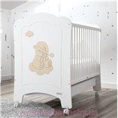 Не качающаяся кроватка для новорожденных Nube 60x120 Trama Matt White/Light Earth