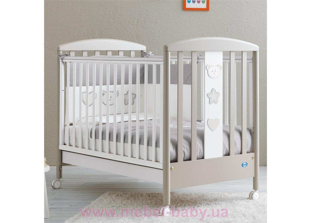 Не качающаяся кроватка для новорожденных Birillo 65x125 Pali Светло-серый