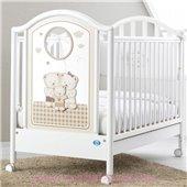 Не качающаяся кроватка для новорожденных Chic 65x125 Pali Белый