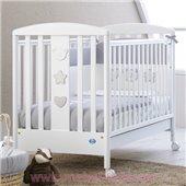 Не качающаяся кроватка для новорожденных Birillo 65x125 Pali Белый