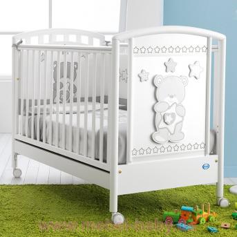 Не качающаяся кроватка для новорожденных Birba 65x125 Pali Белый