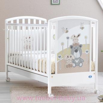 Не качающаяся кроватка для новорожденных Joy 65x125 Pali Белый
