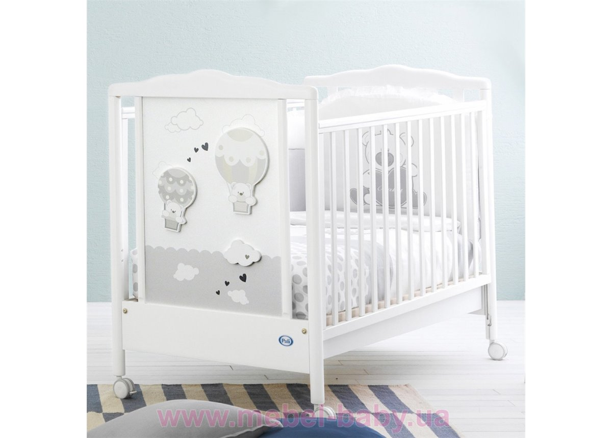 Не качающаяся кроватка для новорожденных Bonnie 65x125 Pali Белый