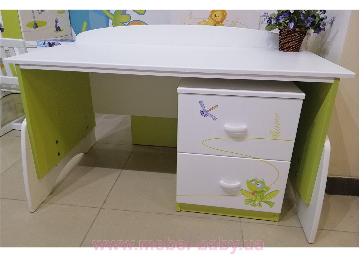 Распродажа_433_Письменный стол UP 120 Meblik Happy Animals green+435_Тумбочка BOX Meblik Happy Animals green