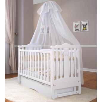 Кроватка детская LUX8 Angelo 1200x600 белый