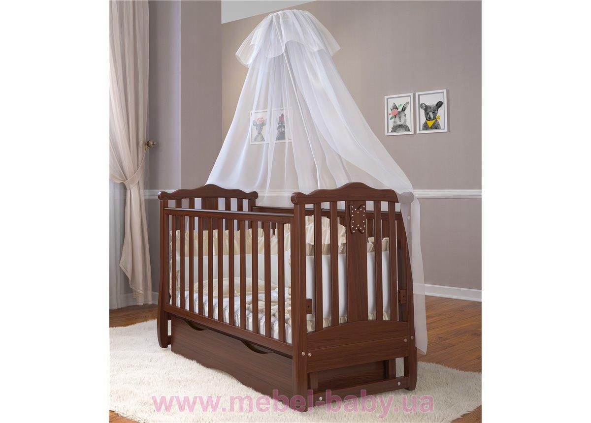 Кроватка детская LUX8 Angelo 1200x600 орех