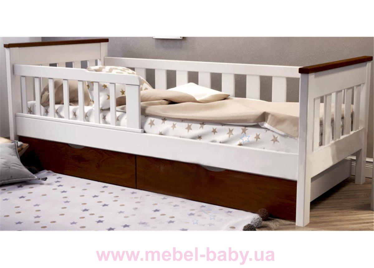 Детская кровать Infernal Fmebel 80х190 Орех темный