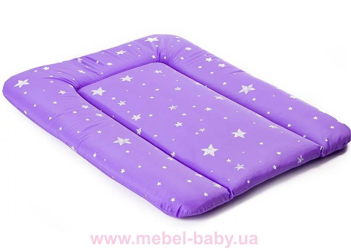 Мягкий пеленатор Ommi Звездочка 500 Фиолетовый Ukr-torg