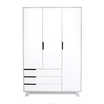 Шкаф Manhattan 1200 ( с ящиками) Верес Бело-серый